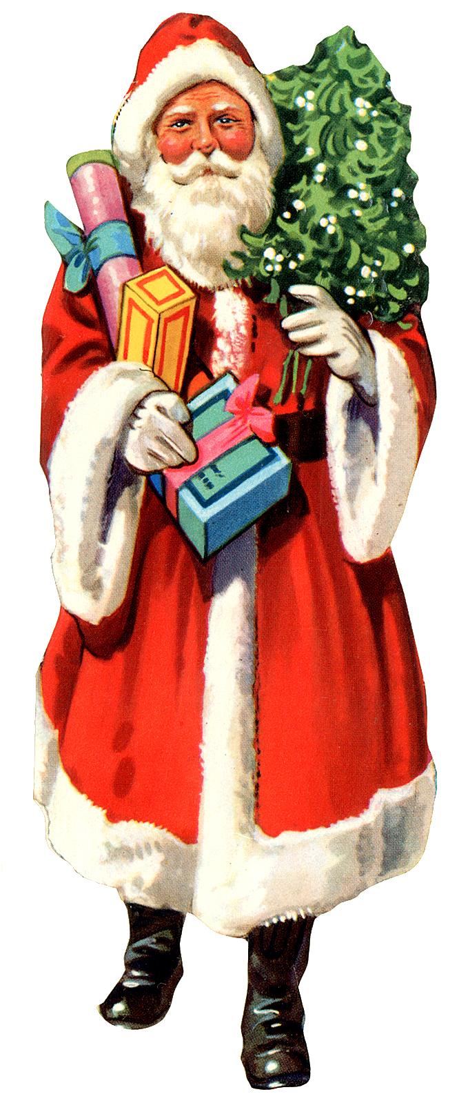 666x1599 Free Vintage Clip Art Images Vintage Santa Claus Clipart