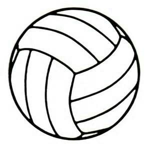 300x300 Free Volleyball Clipart Black And White 5