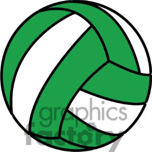300x300 Green Clipart Volleyball