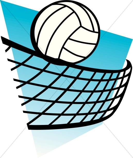 516x612 Blue Clipart Volleyball