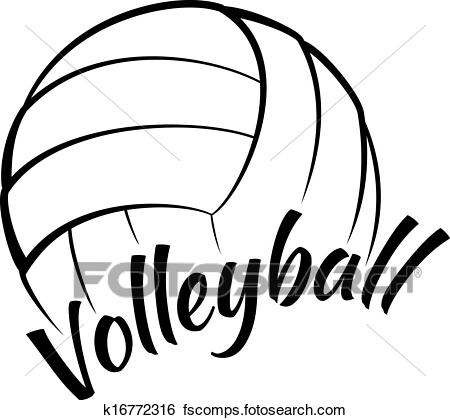 450x420 Clip Art Of Volleyball With Fun Text K16772316