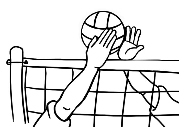 700x498 Volleyball Clipart Awesome And Free Volleyball Court Central 2