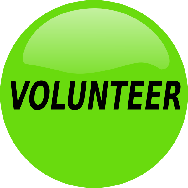 600x600 Volunteer Button Clip Art