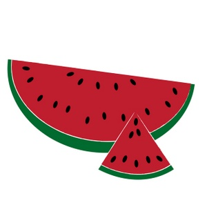 300x300 Watermelon Slice Watermelon Triangle Slice Free Clipart Images