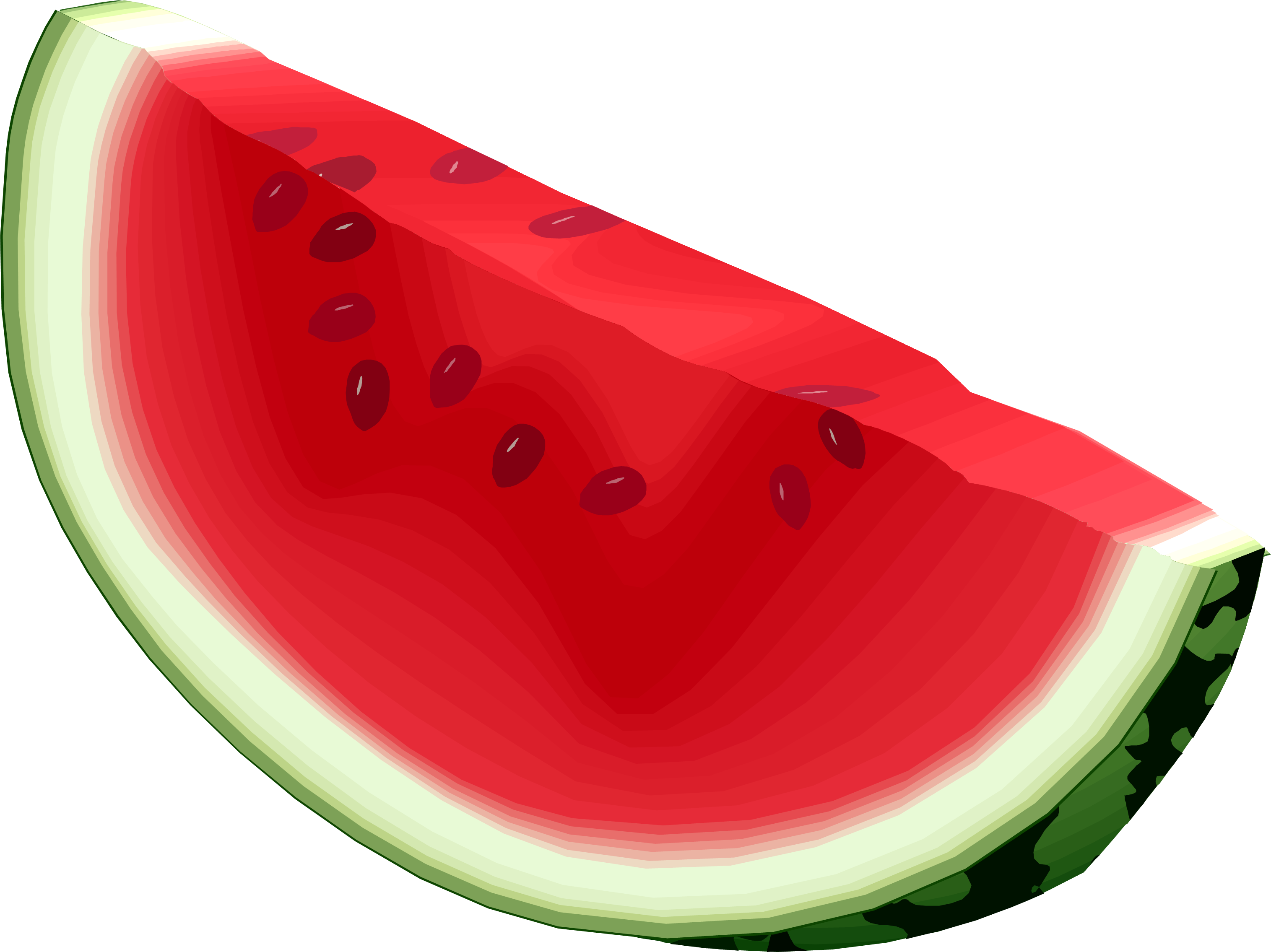 3031x2271 Image Cartoon Watermelon Clip Art Clipartcow 3