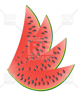 322x400 Ripe Slice Of Watermelon Royalty Free Vector Clip Art Image