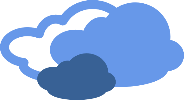 600x327 Heavy Clouds Weather Symbol Clip Art Free Vector 4vector