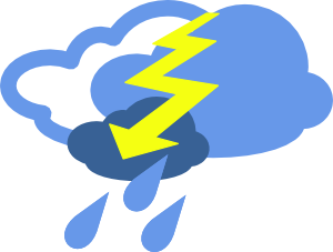 300x227 Severe Thunder Storms Weather Symbol Clip Art Free Vector 4vector