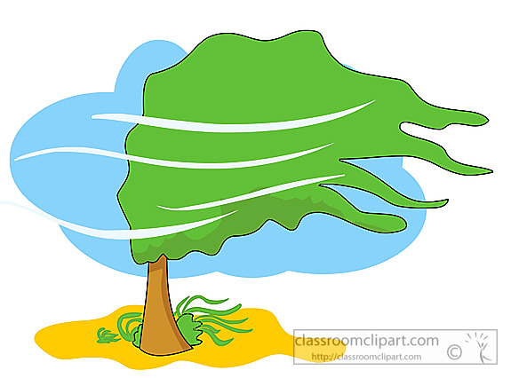 575x426 Windy Weather Clip Art