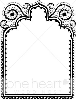 296x388 Black Lace Border Clipart Wedding Borders