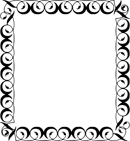 552x596 Clipart Borders Free Download