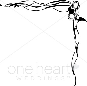 300x296 Wedding Program Border Clipart 66