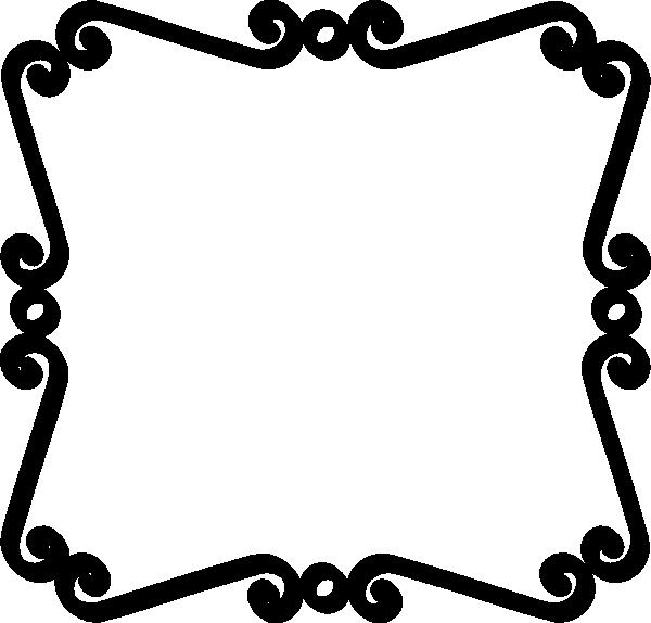600x574 Black And White Borders