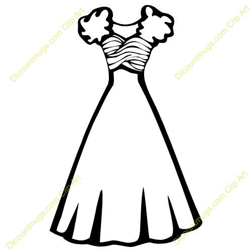 500x500 Black Amp White Clipart Dress