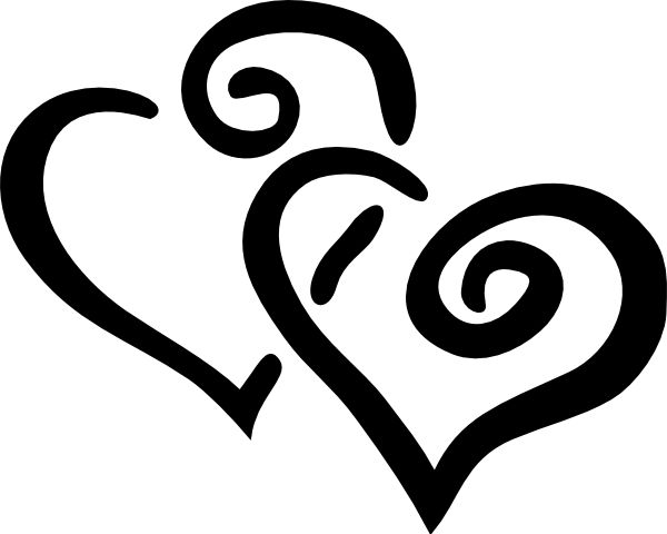 600x480 Free Wedding Clipart Black And White Bells And Hearts