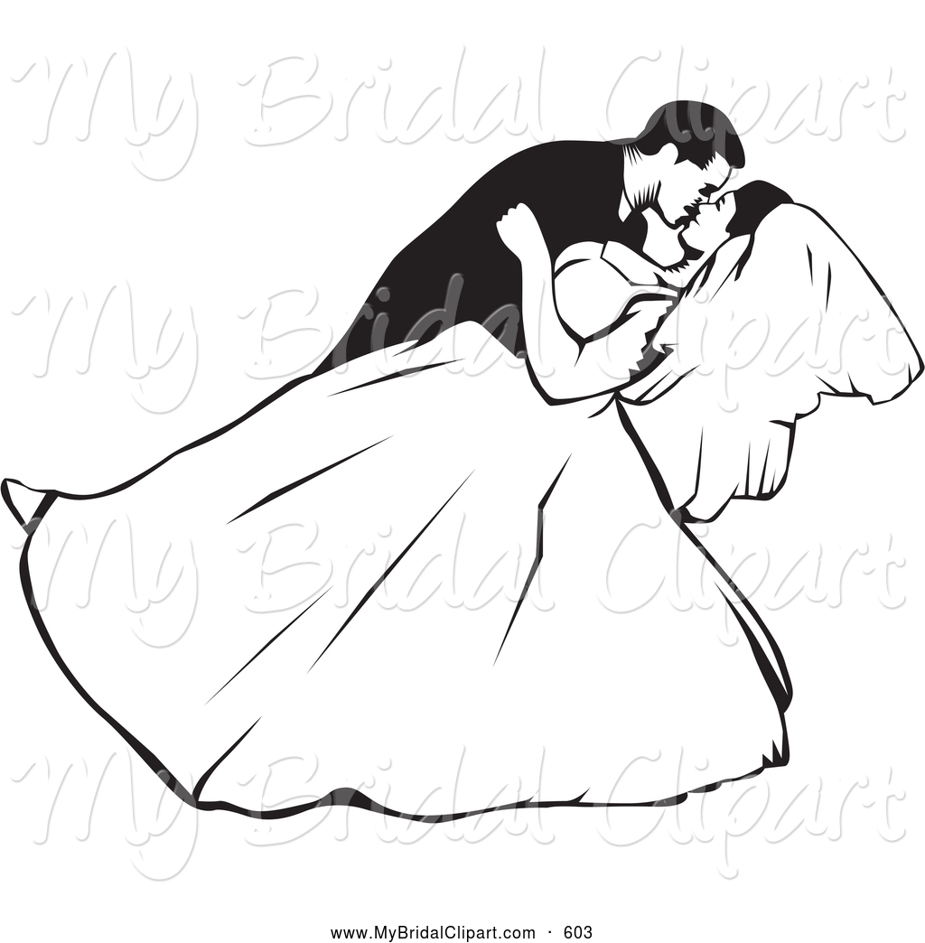 1024x1044 Black Amp White Wedding Clipart