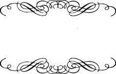 236x152 Flourish Border Clip Art Clipart