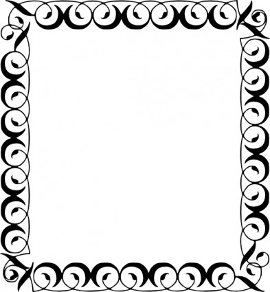 393x425 Free Clip Art Borders Wedding Clipart