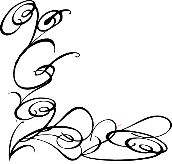 600x572 Line Drawing Swirl Flower Pattern Vector Graphic Free