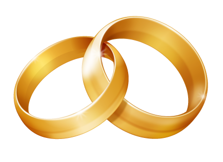 435x316 Linked wedding rings clipart free clipart images clipartcow