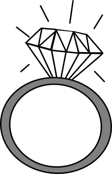 365x567 Two wedding rings clipart