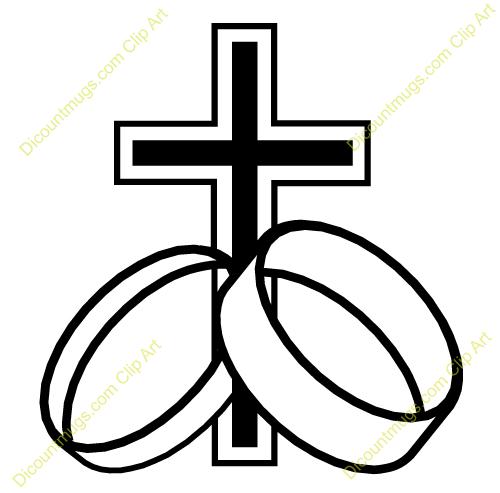 500x493 Clipart cross ring wedding