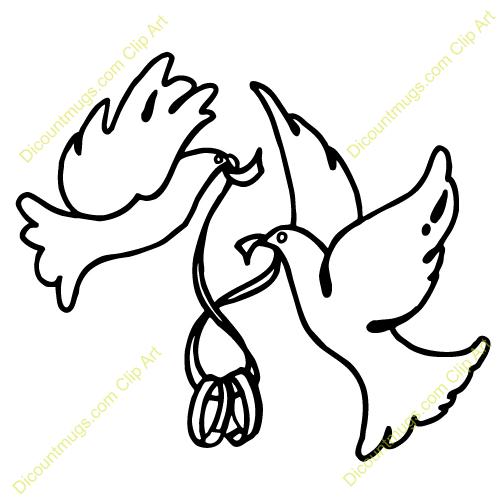 500x500 Dove clipart ring clip art