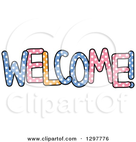 450x470 Clipart Of A Colorful Sketched Welcome Word