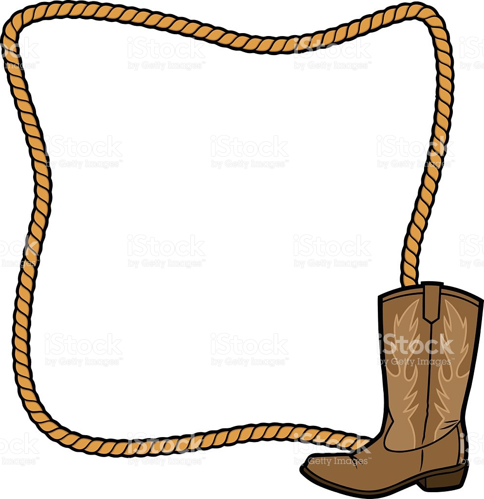 994x1024 Rope Clipart Cowboy Boot