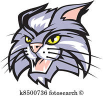 206x194 Wildcat Clipart And Illustration. 2,093 Wildcat Clip Art Vector