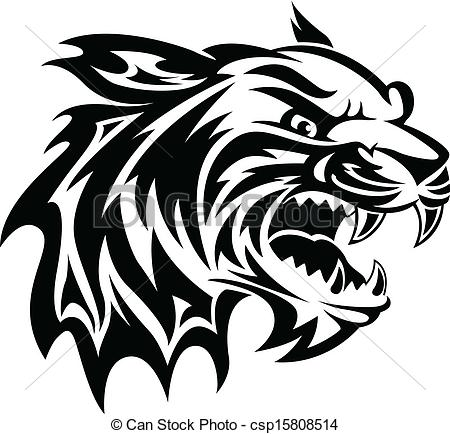 450x434 Wildcat Face Clipart