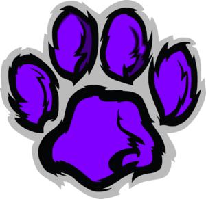 300x291 Wildcat Pawprint Clip Art