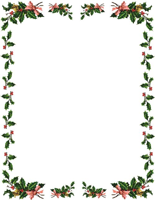 500x646 Free Holiday Clipart Borders