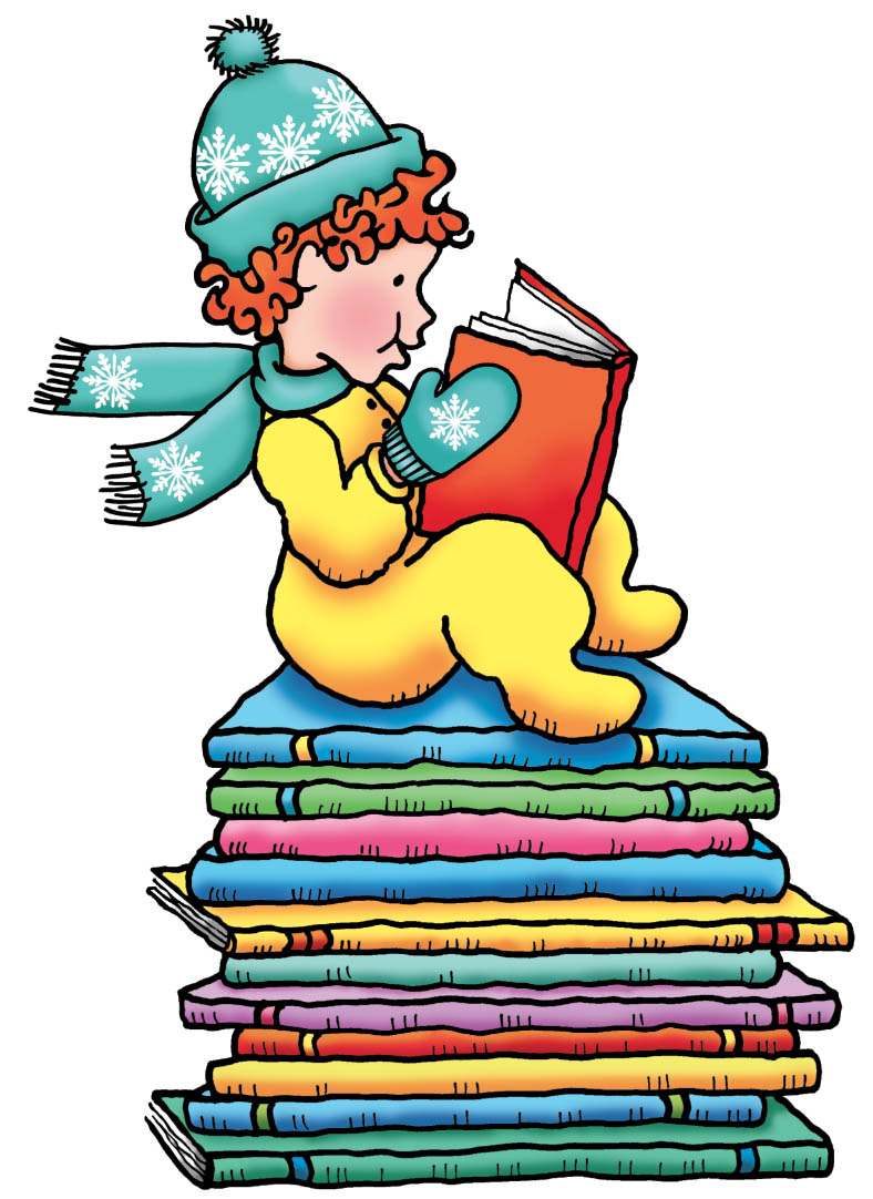 788x1082 Holiday Reading Clipart