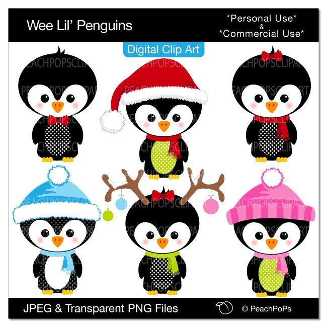 650x650 Penguin Clipart Winter Holiday