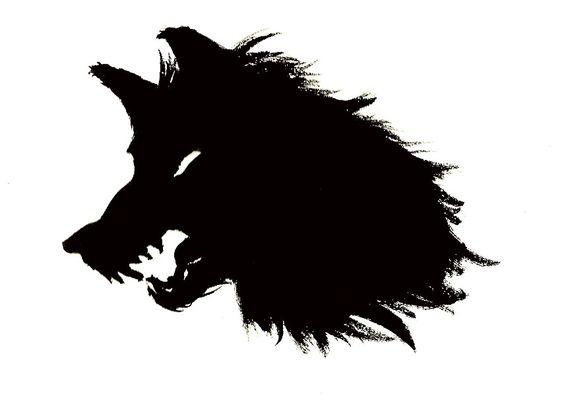 564x416 Wolf Head Clipart