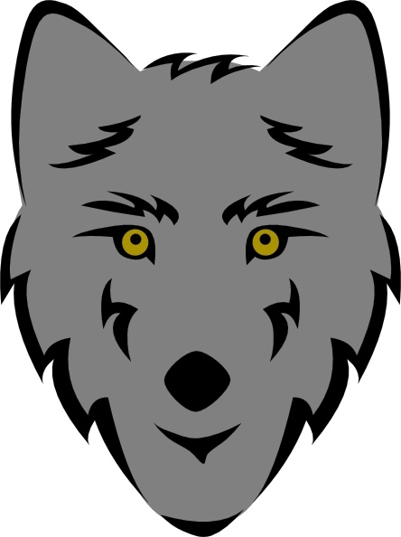 444x594 Wolf Head Stylized Clip Art Free Vector In Open Office Drawing Svg