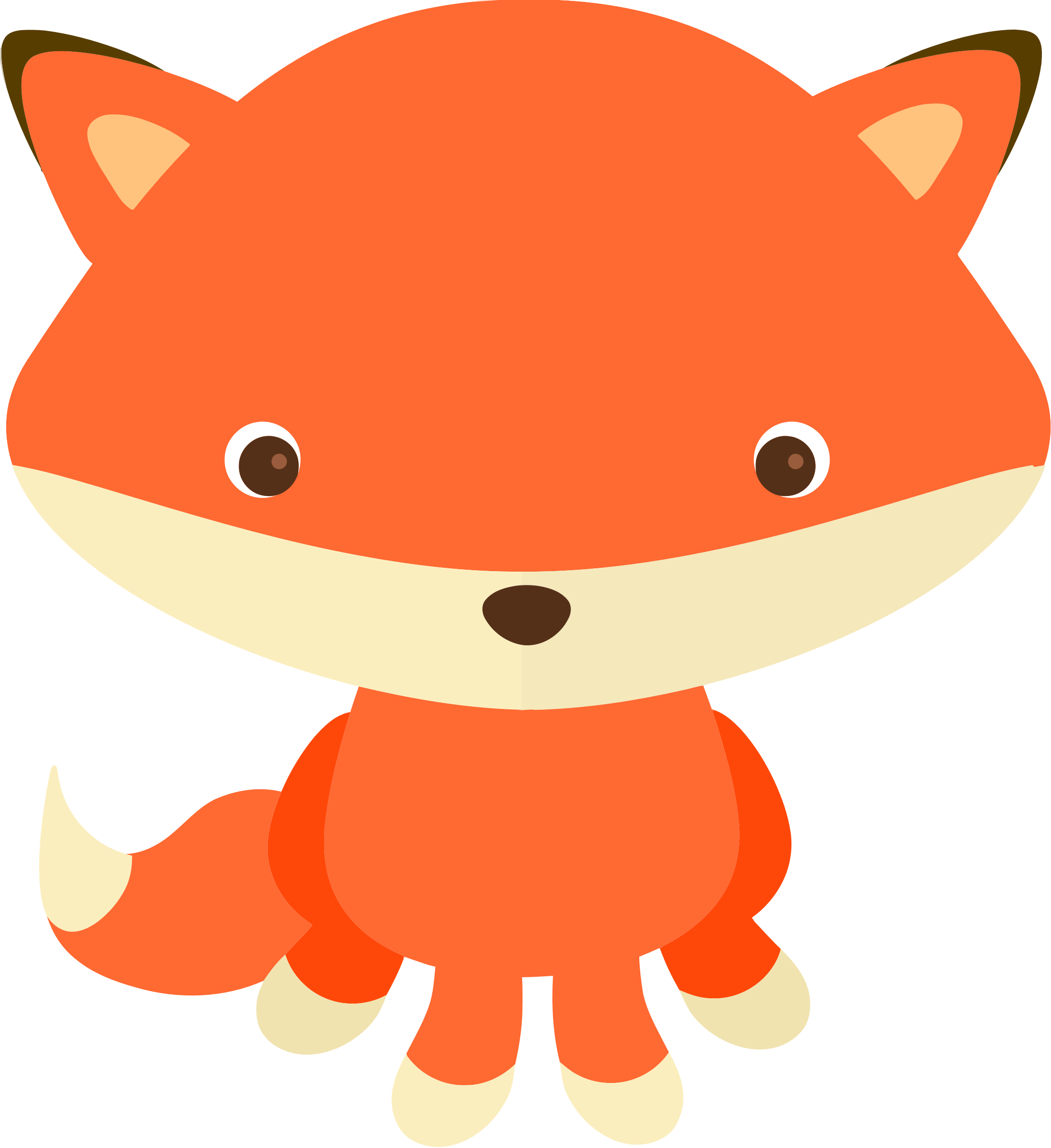 2198x2400 Fox By @kbj 77, I Cute Little Fox I Made For A Clipart Set Of Mine