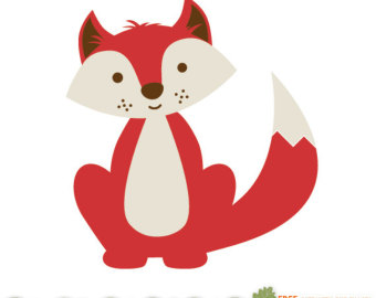 340x270 Baby Animal Clipart Woodland Fox