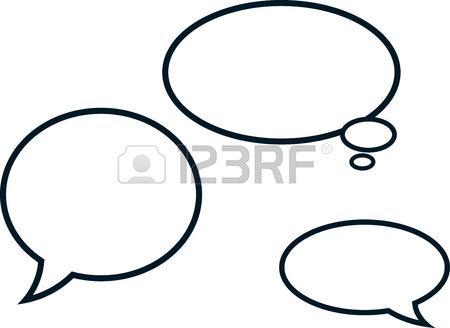450x328 Vector Comics Speech Bubbles Illustration Royalty Free Cliparts