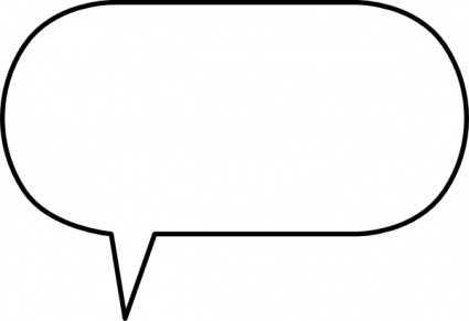 425x291 Free Printable Blank Speech Bubbles Clipart 6