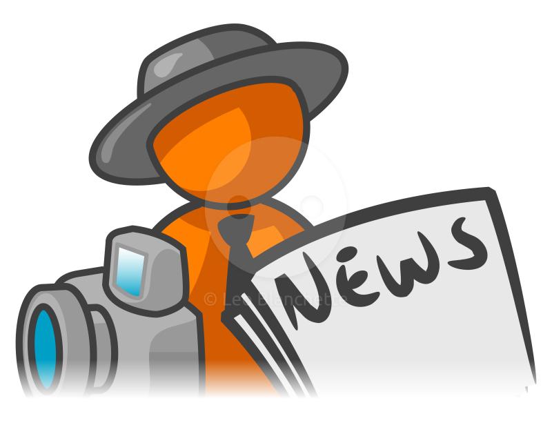 800x613 Journalist Clipart