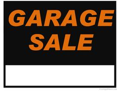236x182 Yard Sale Sign Ideas