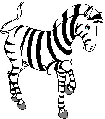 355x401 Baby Zebra Clipart Black And White Letters Format