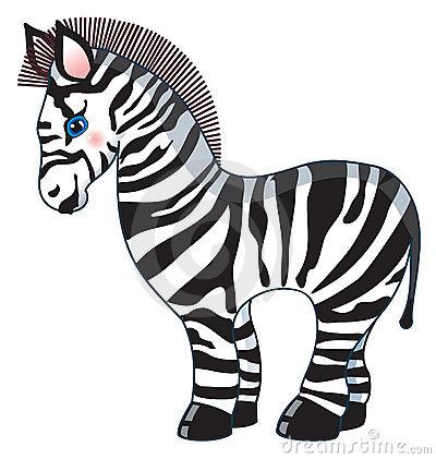 400x421 Cute Zebra Clipart