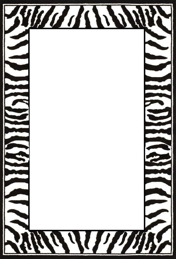 700x1027 Leopard Print Border Clip Art