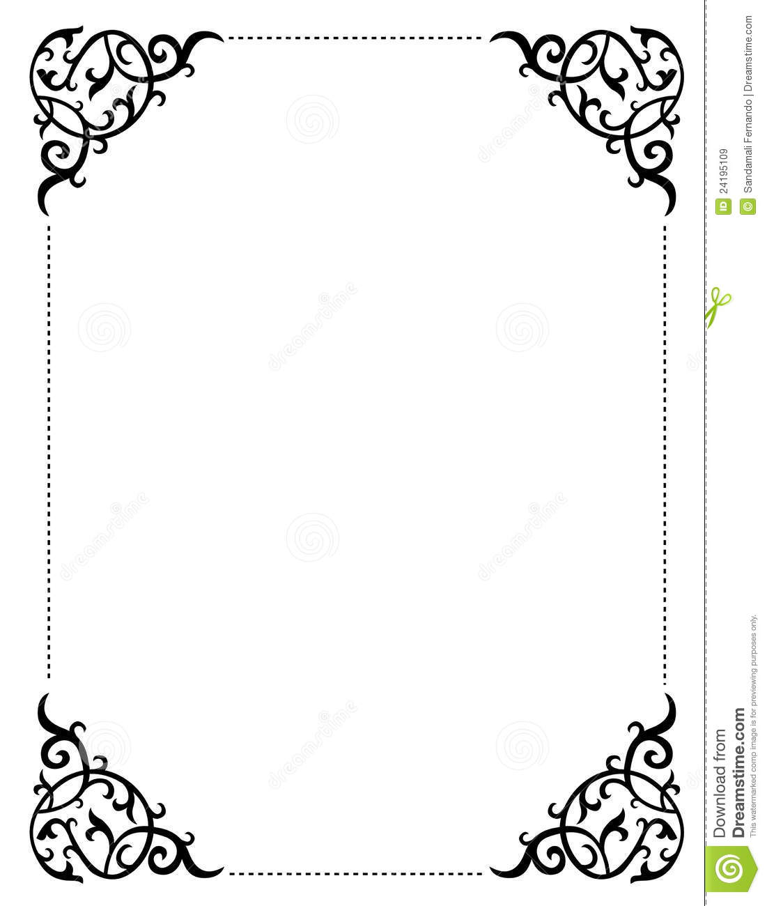 1101x1300 Printable Borders Clipart