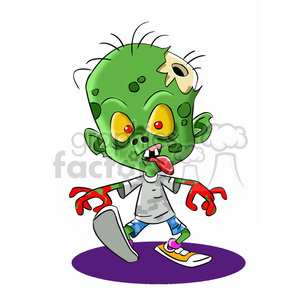 300x300 Royalty Free Zombie Child Cartoon 393274 Vector Clip Art Image