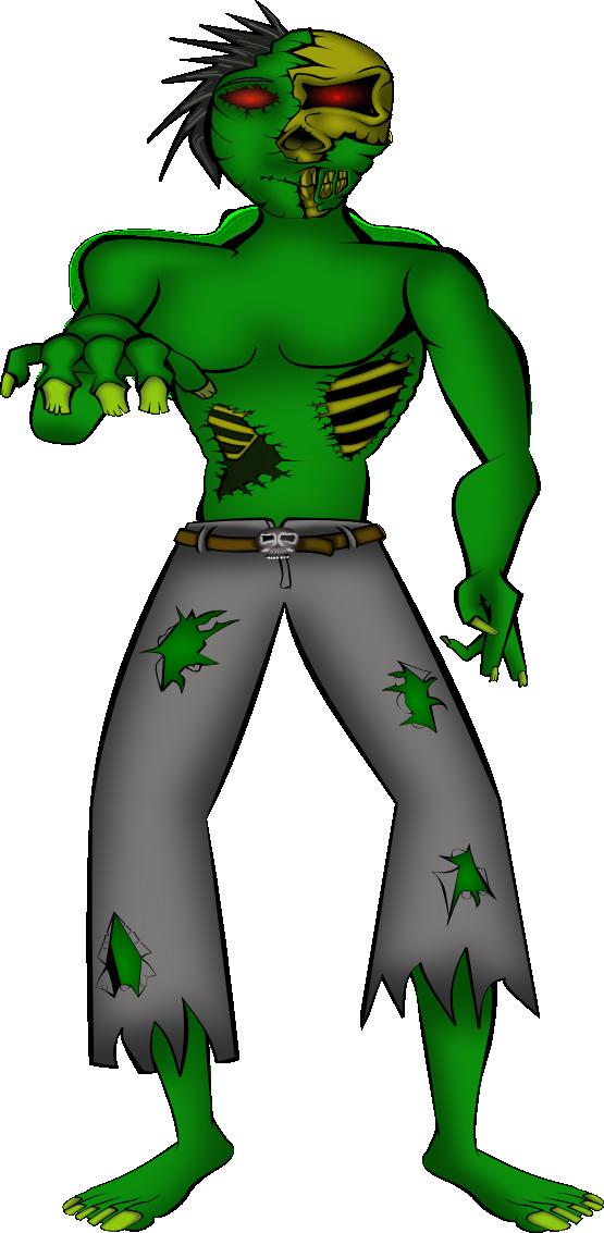 555x1133 Free Cartoon Zombie Clip Art
