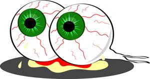 300x158 Eyeball Clipart Zombie